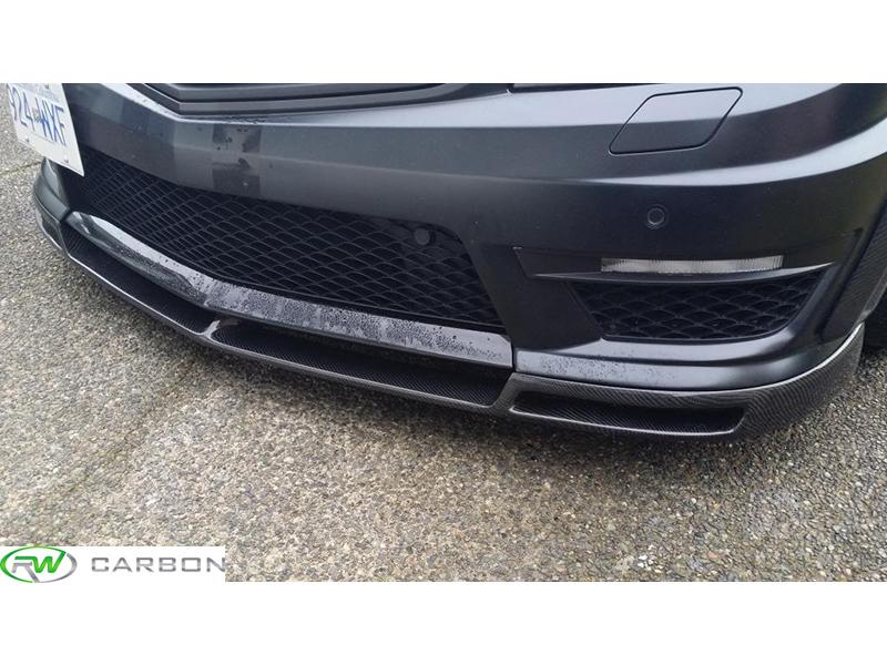 RW Carbon Mercedes W204 C63 AMG Facelift carbon fiber vorsteiner style front lip installed!