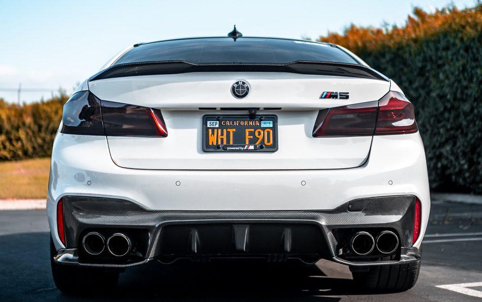 RW Carbon Fiber BMW F90 M5 3D Style CF Rear Diffuser